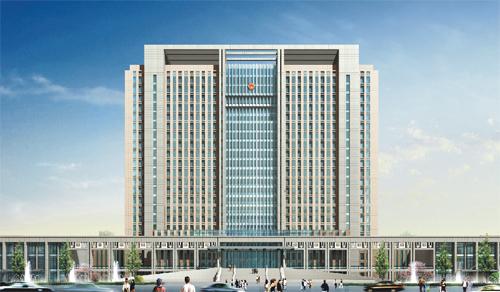 内蒙古兴安盟党政综合办公大楼会议室