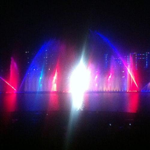 天水渭河音乐喷泉水上景观竣工