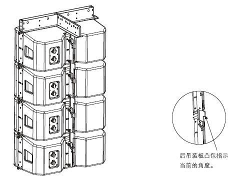 外置3分频双12英寸防水全频线性阵列扬声器安装图