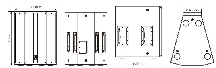 18英寸低频扬声器系统尺寸图