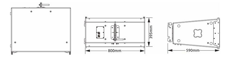 双12英寸防水低频线性阵列扬声器尺寸图