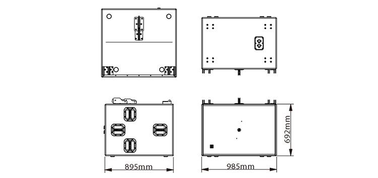 双18英寸无源低频防水扬声器尺寸图